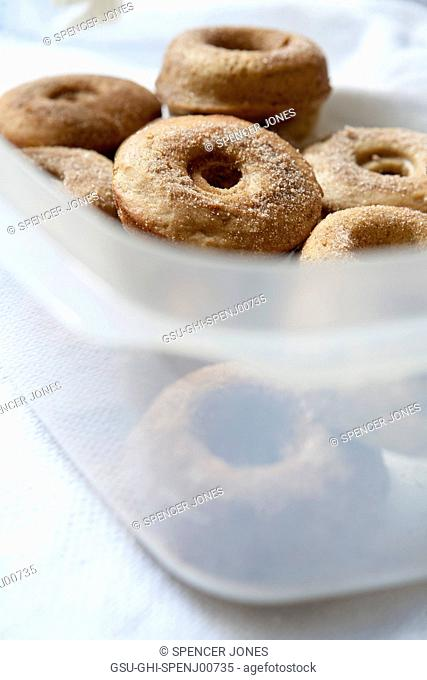 Doughnuts in Plastic Container
