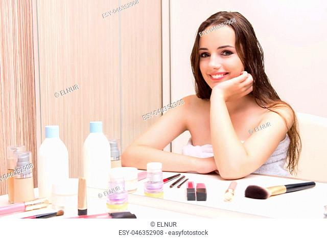 Young woman in beauty make-up concept