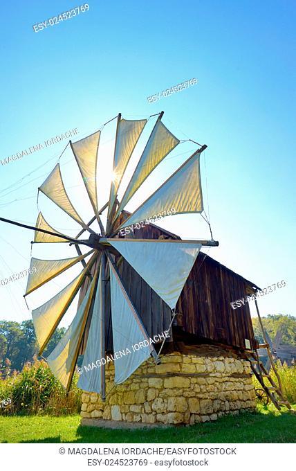 Medieval windmill in Sibiu, Romania
