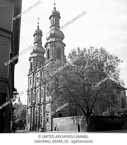 Die Kirche St. Peter an der Großen Bleiche in Mainz, Deutschland 1930er Jahre. The St. Peter's church at Mainz, Germany 1930s