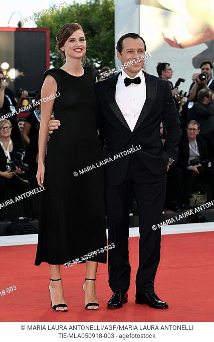 Bianca Vitali and Stefano Accorsi during the Red carpet of the film Vox Lux at the 75th Venice Film Festival, Venice, ITALY-04-09-2018