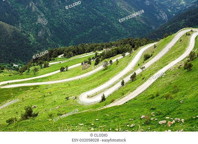 French side of Colle di Tenda (Col de Tende), winding road