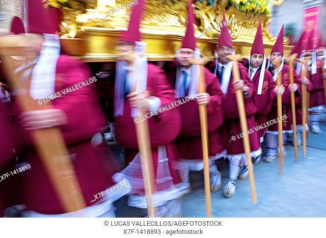 Easter Monday procession Cofradia del Santísimo Cristo del Perdón Holy Week  Murcia  Spain