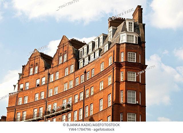 Apartments block, South Kensington, London, UK