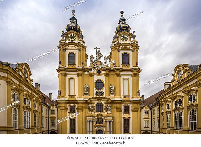 Austria, Lower Austria, Melk, Melk Abbey Library, exterior