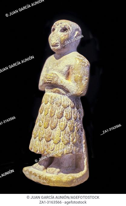 Statuette of a Sumerian prayer from the Early Dynastic Period
