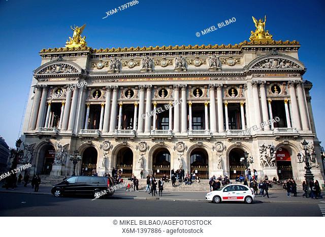 The Opera Building Palais Garnier  Paris, France, Europe