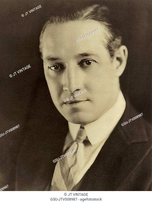 Elliott Dexter, Publicity Portrait for the Silent Film, Something to Think About, Paramount Pictures, 1920