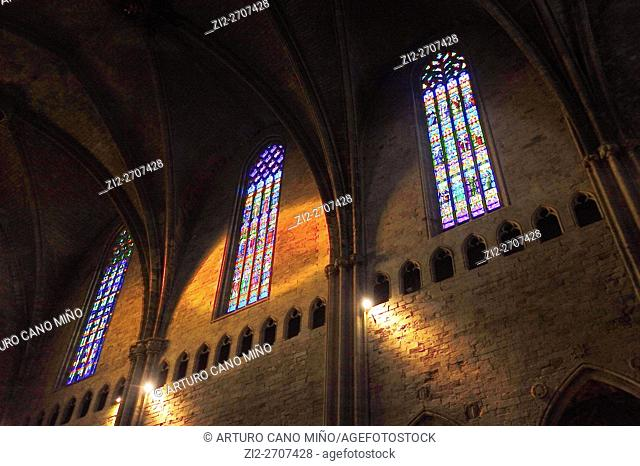 Stained glass windows. Cathedral of Saint Mary, XI-XVIII centuries. Girona, Spain