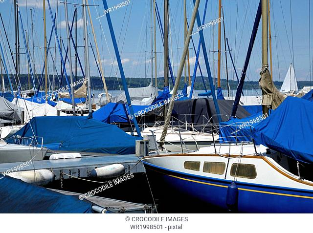 Abounding,Abundance,Bank,Bavaria,Bernried,Bernried At Lake Starnberg,Bliss,Blissful,Boat,Bodies Of Water,Body Of Water,Cloud,Day,Daylight,Daytime,Docking,Europe