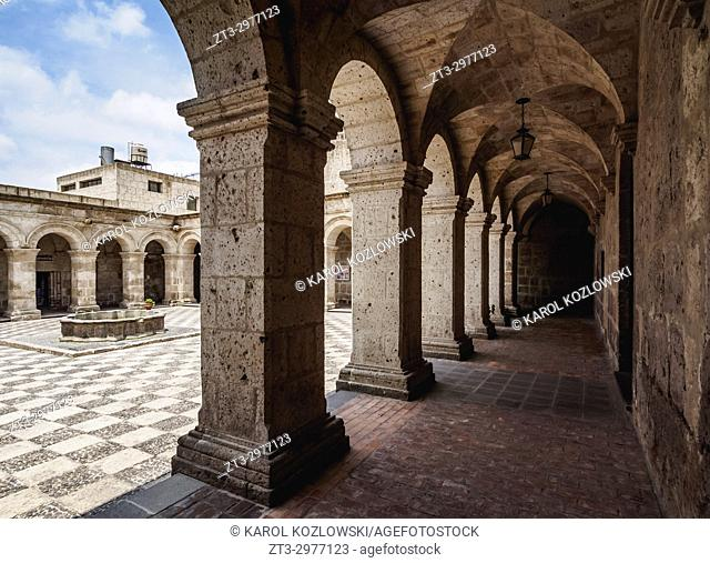 Cloister of the La Compania Church, Arequipa, Peru