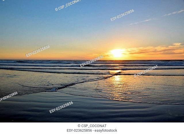 Sunset and ocean