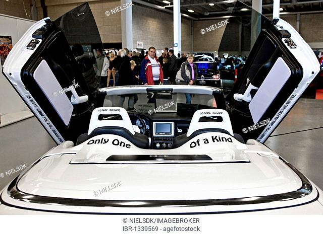 Black and white car at Scandinavian Custom Show in Bella Center, Copenhagen, Denmark, Europe
