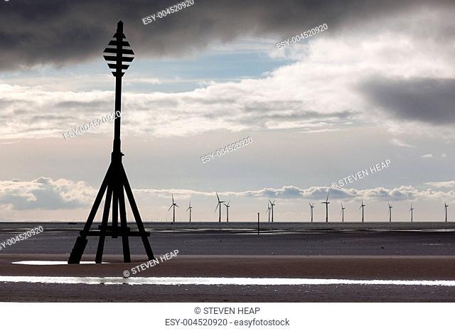 Wind turbines in Mersey