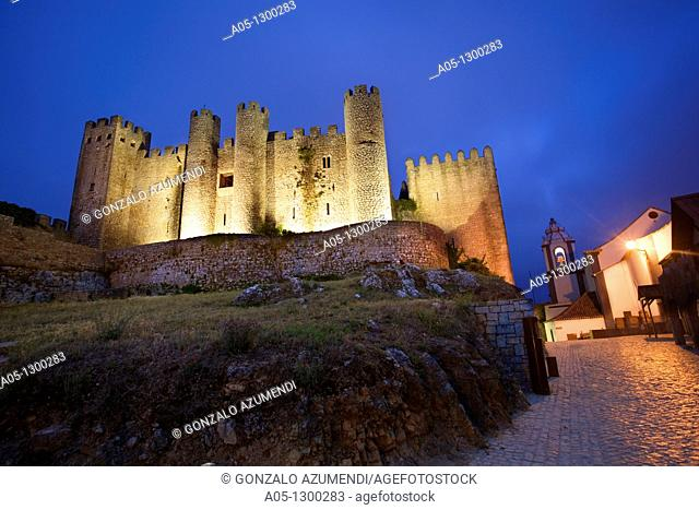 Portugal, Estremadura, Obidos. Castle built by Alfonso Henriques in 1148, now a Pousada hotel