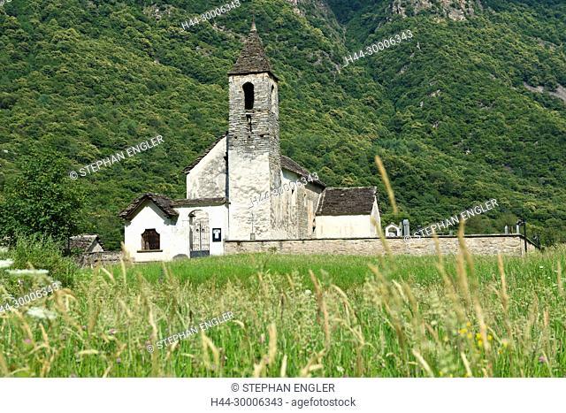 Switzerland , Ticino, Blenio valley Chiesa di S. Pietro