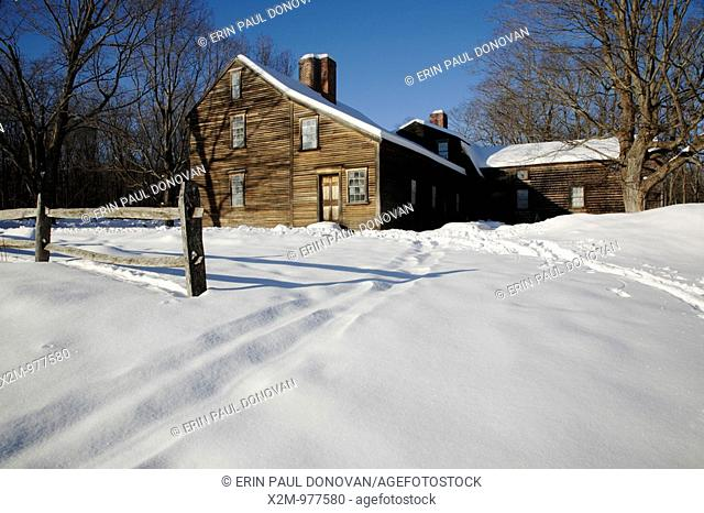 Minute Man National Historical Park   Hartwell Tavern, which is a restored 18th century tavern along the Battle Road Trail during the winter months  Located in...
