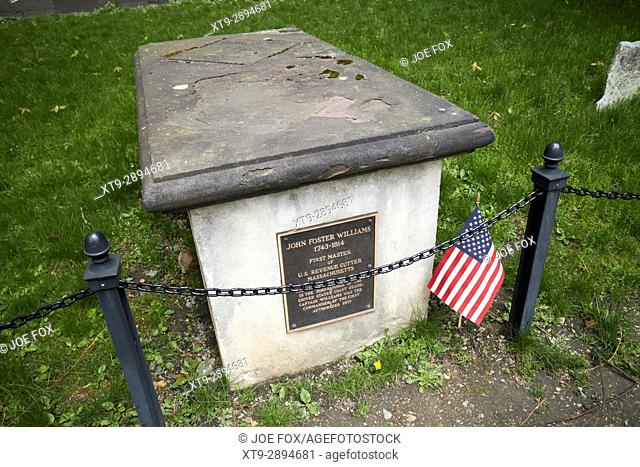 grave of john foster williams Granary Burying ground Boston USA