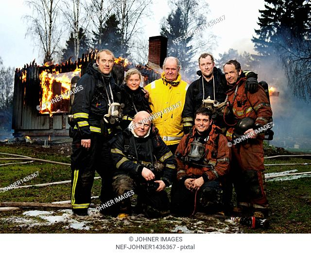 Group of fire fighters, portrait