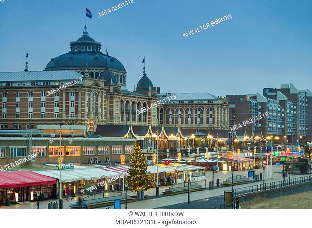 Netherlands, Scheveningen, Kurhaus, exterior, dusk