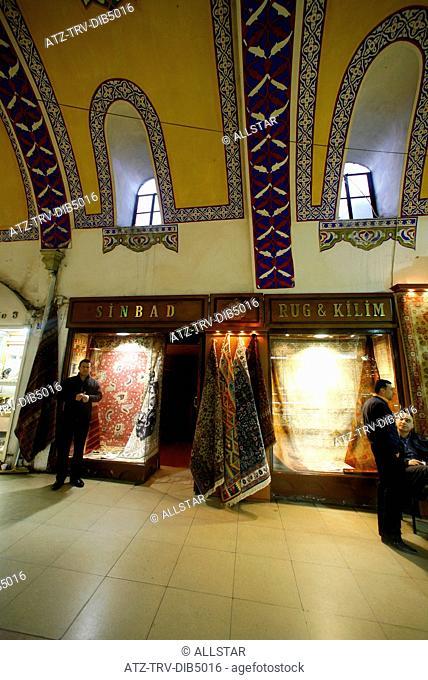 INSIDE THE GRAND BAZAAR; BAZAAR QUARTER, ISTANBUL, TURKEY; 13/02/2007