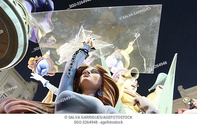 18 March 2019. The feminist jury awards Almirante Cadarso-Conde Altea as the most egalitarian failure in Valencia, Spain. © Salva Garrigues