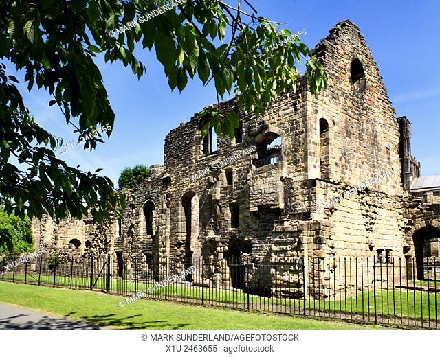 The Abbots Lodging at Kirkstall Abbey Kirkstall Leeds West Yorkshire England