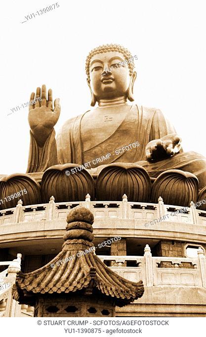 Tian Tan Buddha, Ngong Ping, Lantau Island, Hong Kong, China, Far East, Asia