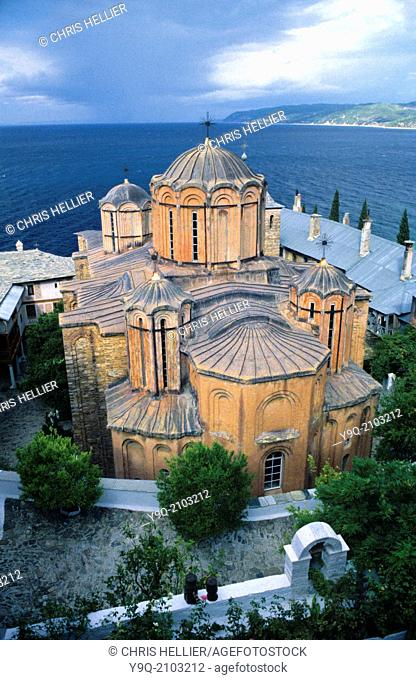 Main Church or Catholicon Dochiariou Monastery Mount Athos Greece