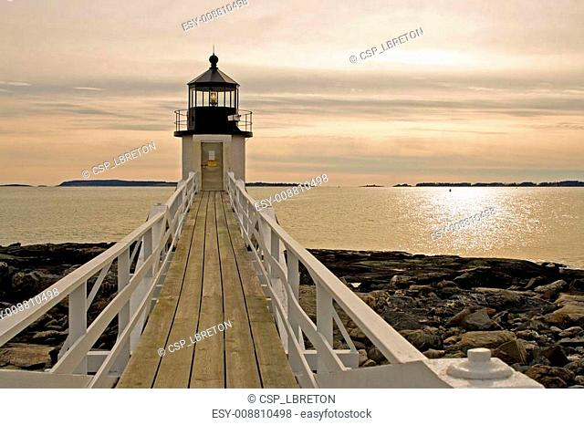 Maine Lighthouse Afternoon