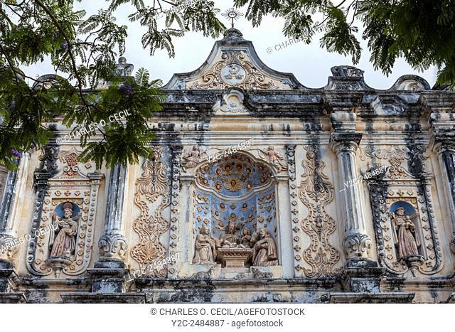 Antigua, Guatemala. Facade of El Belen Church, 17th. Century