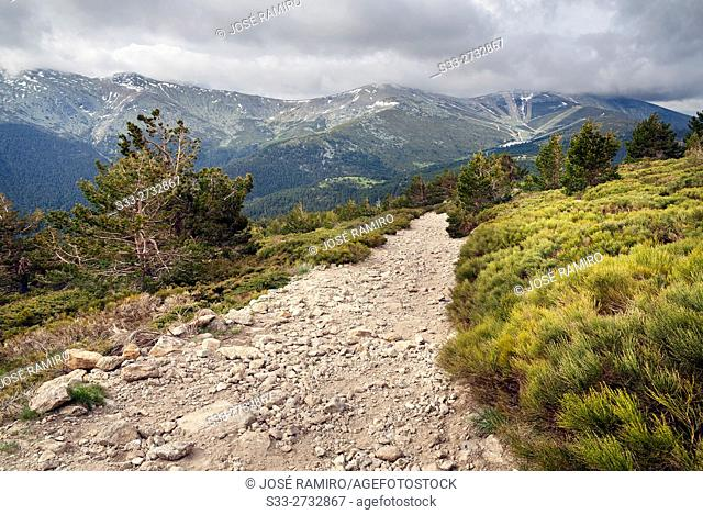 The Long Rope from the road to Peñalara. Sierra de Guadarrama. Madrid. Spain. Europe