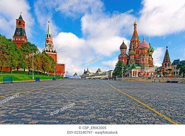 Moscow Kremlin, Red Square and Saint Basil Cathedral