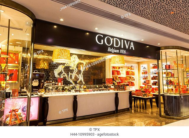China, Hong Kong, Central, IFC Shopping Mall, Godiva Store