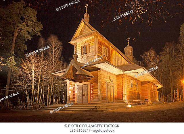 Grabarka. The orthodox church at the Holy Hill of the polish orthodox believers. Podlasie region. Poland