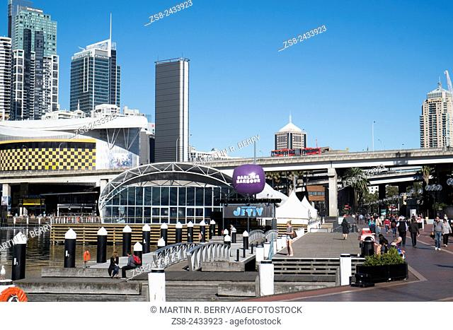 Darling Harbour in Sydney city centre Australia