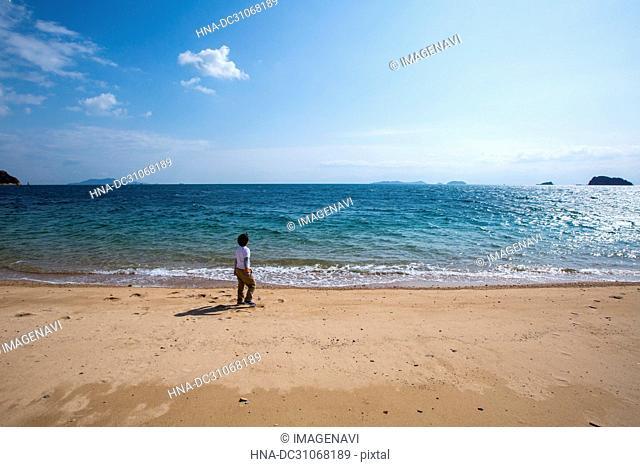 Boy in the sea
