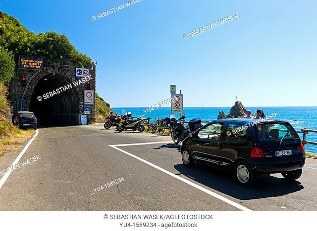 Entrance to Vallegrande Tunnel from Trigoso to Moneglia, Province of Genoa, Liguria, Italy