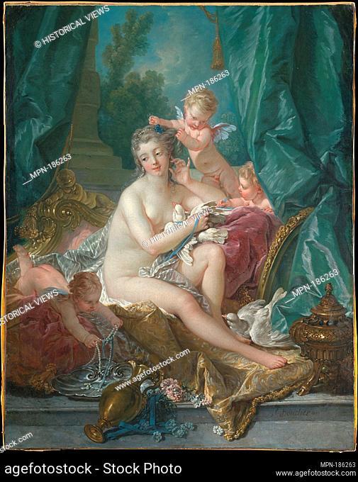 The Toilette of Venus. Artist: François Boucher (French, Paris 1703-1770 Paris); Date: 1751; Medium: Oil on canvas; Dimensions: 42 5/8 x 33 1/2 in