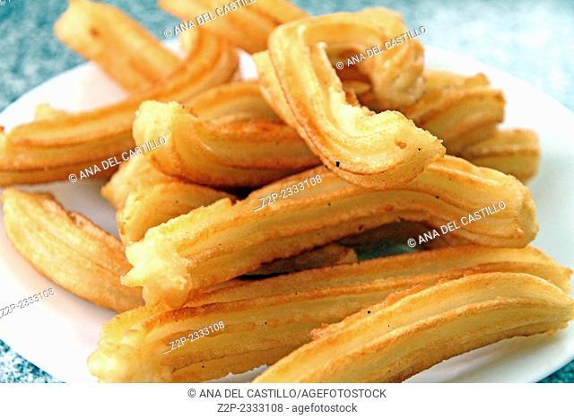 churros on plate Spain