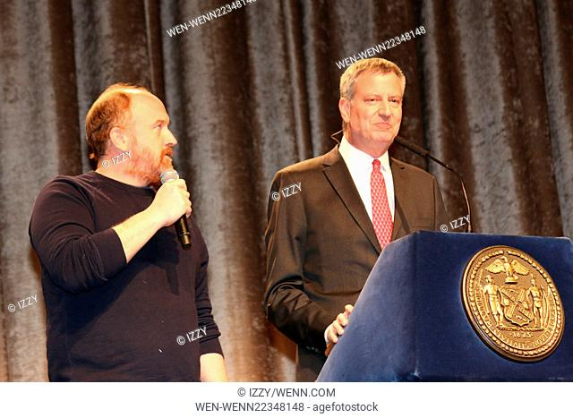2015 Inner Circle Dinner held at the New York Hilton Featuring: Louis C.K, Bill de Blasio Where: New York City, New York