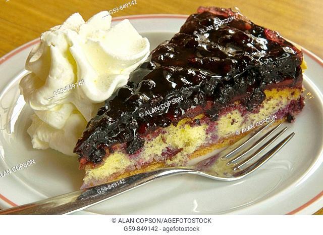 Kirschkuchen (cherry cake), Bavaria, Germany