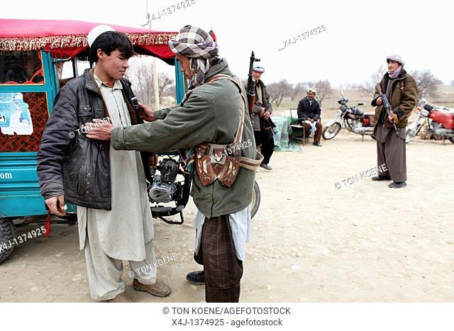 Warlord militia, Kunduz provincie, afghanistan