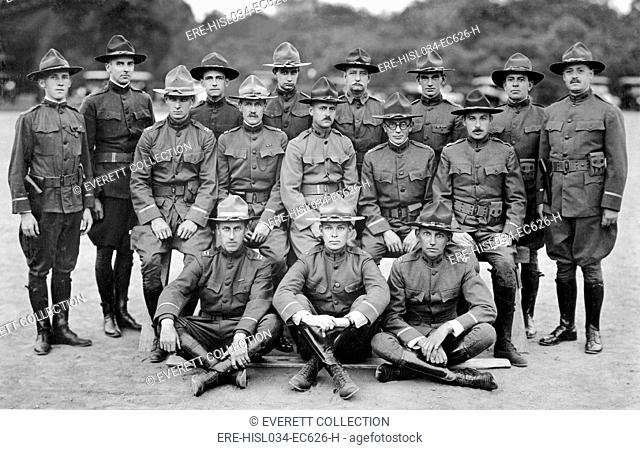 Officers of the Morristown, New Jersey, Infantry Battalion. World War I. July 1918