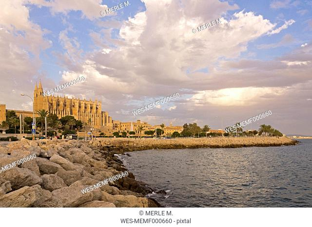 Spain, Balearic Islands, Majorca, Palma, Cathedral La Seu