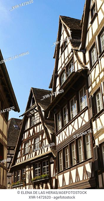 Typical houses  Strasbourg, Alsace  France