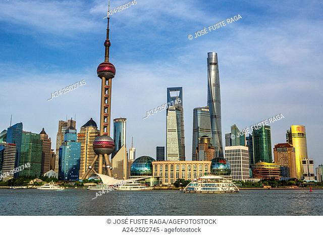 China, Shanghai City, Jinmao , World Financial Center and Shanghai Towers