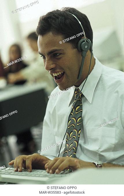 man, operator, inside