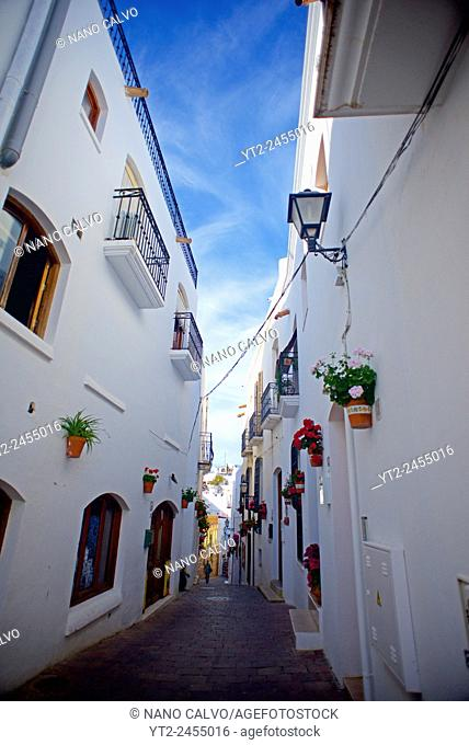 Streets of Mojácar, Andalucia, Spain