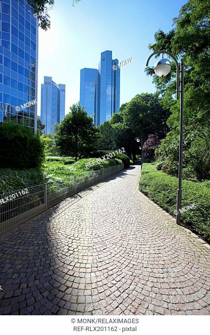 Frankfurt Deutsche bank financial district day